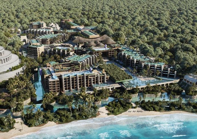 Hotel Xcaret Arte Aerial View