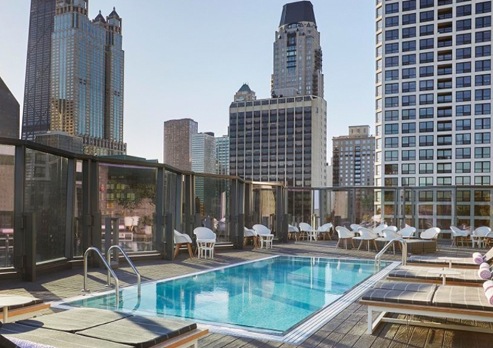 Rooftop pool at Viceroy Chicago