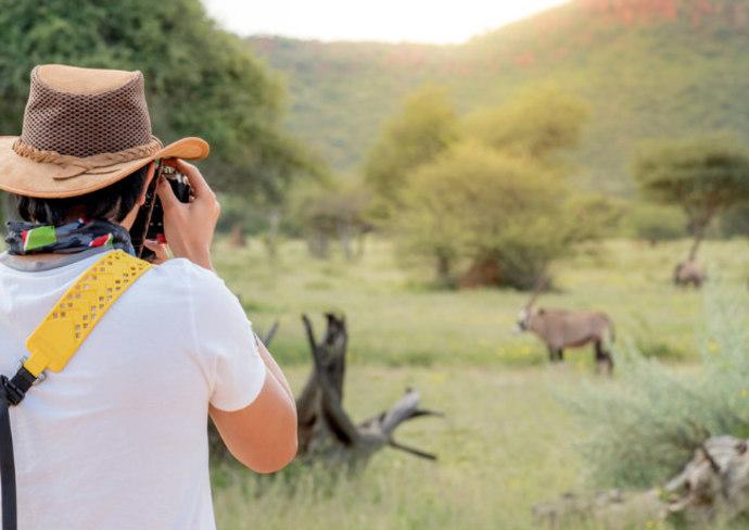 Traveler on a safari