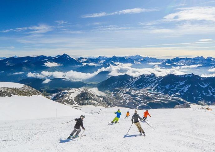 Skiing at Tignes Resort, France