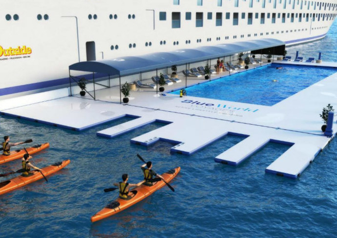 Blue World Voyages' Floating Lap Pool - rendering