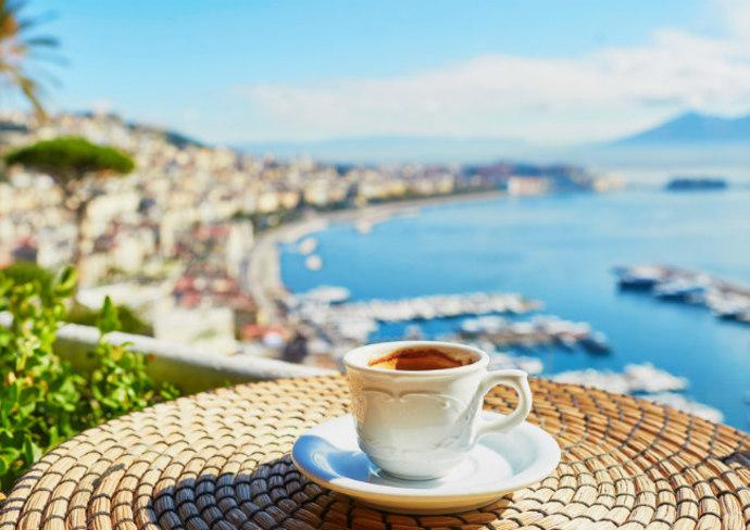Espresso in Naples, Italy