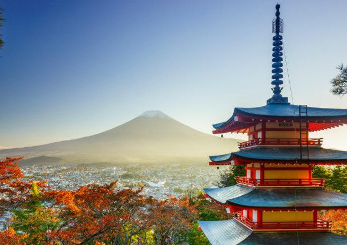 Mt. Fuji with Chureito Pagoda, Japan